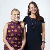 Studio portrait of Dr Karin Sellberg and Dr Elizabeth Stephens, MAAS Research Fellows.