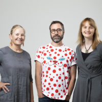 Group portrait of MAAS Research Fellows: Group portrait of Kate Richards, Dr Andrew Burrell and Dr Rachel Henderey